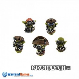 Orc Cyber Pirates Heads