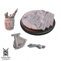 Warcradle Classics - Red Oak Large Base Topper Set & Scatter Terrain