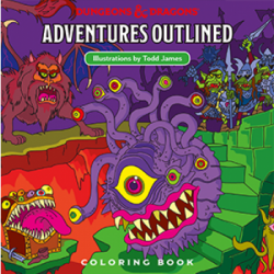 Dungeons & Dragons: Adventures Outlined Colouring Book (DDN)
