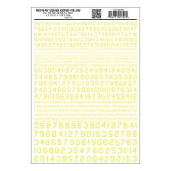 45° USA Gothic Numbers Yellow