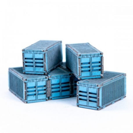 Micro Scale Container x6 (Blue)