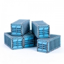 Micro Scale Containers x6 (Blue)