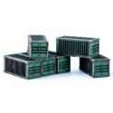 Micro Scale Containers x6 (Green)