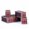 Micro Scale Container x6 (Red)