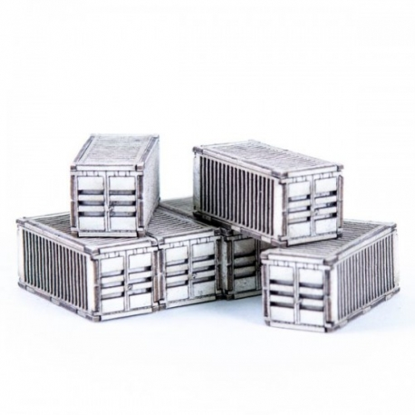 Micro Scale Containers x6 (White)