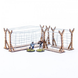 Straight Barbed Wire Fences