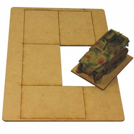 5 Bases 75mm x 50mm