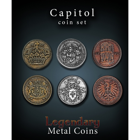 Capitol Coin Set Legendary Metal Coins