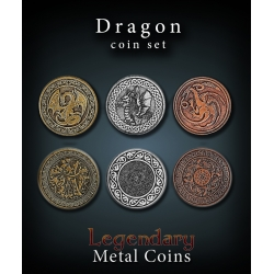 Dragon Coin Set Legendary Metal Coins