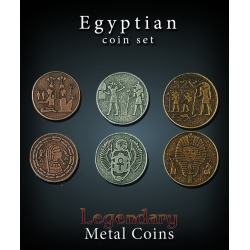 Egyptian Coin Set Legendary Metal Coins