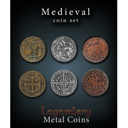 Medieval Coin Set Legendary Metal Coins