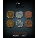 Orc Coin Set Legendary Metal Coins