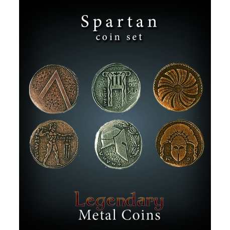 Spartan Coin Set Legendary Metal Coins