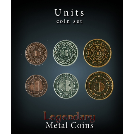 Units Coin Set Legendary Metal Coins