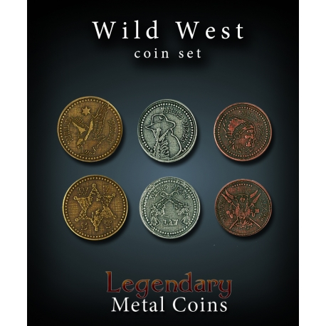 Wild West Coin Set Legendary Metal Coins