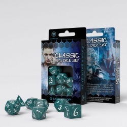 Classic RPG Stormy & White Dice Set
