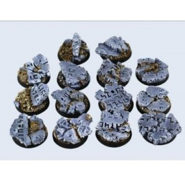 25mm Round Ruins Bases