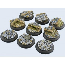 Cobblestone Bases Lipped 30mm