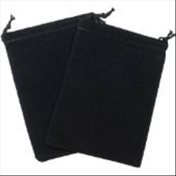 Small Suede Dice Bags - Black