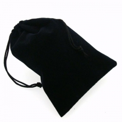 Large Suede Dice Bags Black