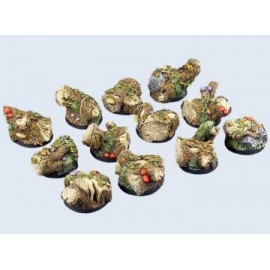25mm Round Forest Bases