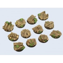 25mm Round Wood Bases