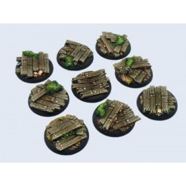 30mm Lipped Round Wood Bases