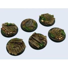 40mm Lipped Round Wood Bases