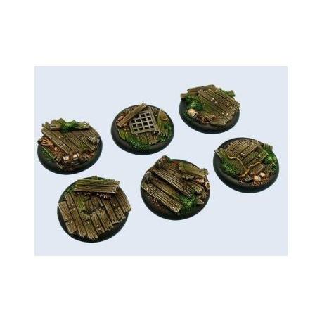 Wood Bases, WRound 40mm (2)
