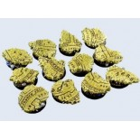 25mm Round Temple Bases