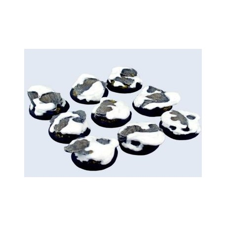 30mm Lipped Round Winter Shale Bases