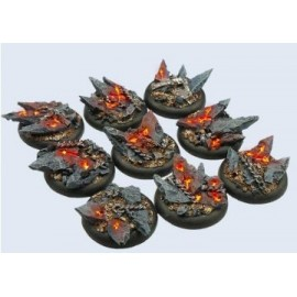 30mm Lipped Round Chaos Bases