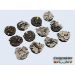 25mm Round Urban Fight Bases