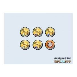 Infinity Tokens Camo Yellow