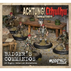 Badger's Commandos Unit Pack (Pack of 10): Achtung! Cthulhu Skirmish