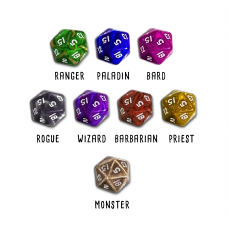 Hero Master: An Epic Game of Epic Fails: Custom Dice