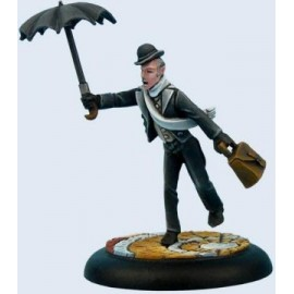 Butler with Umbrella