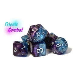 Halfsies Dice - Psionic Combat (Poly 7 Set)