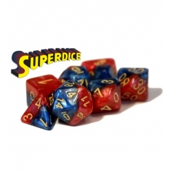 Halfsies Dice - Superdice (Poly 7 Set)