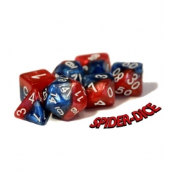 Halfsies Dice - Spider-Dice (Poly 7 Set)