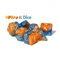 Halfsies Dice - Fire & Dice (Poly 7 Set)