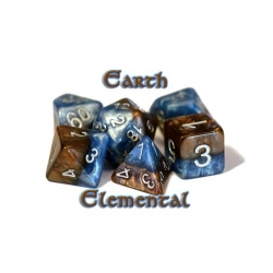 Halfsies Dice - Earth Elemental (Poly 7 Set)