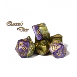 Halfsies Dice - Queen's Dice (Poly 7 Set)