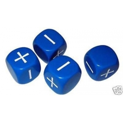 Fudge Dice Blue
