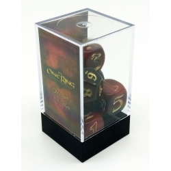 The One Ring Dice Set: Red and Black