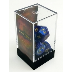 The One Ring Dice Set: Blue and White