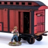 19th Century American Baggage Car (Red)