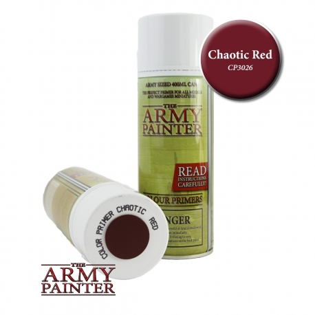 Chaotic Red Colour Primer Spray