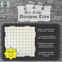 "Dry Erase Dungeon Tiles: White 10"" Square - 9 pack"