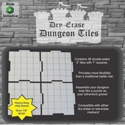 "Dry Erase Dungeon Tiles: White 5"" Square - 36 pack"